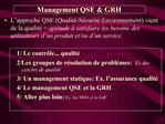 Management QSE  GRH