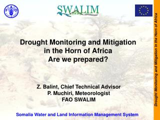 Drought Monitoring and Mitigation in the Horn of Africa  Are we prepared?