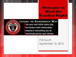Welcome to  Meet the Teacher Night!