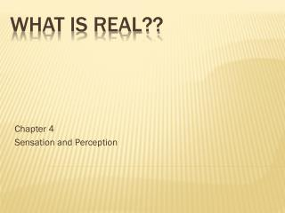 What is real??
