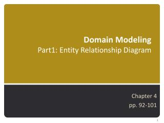 Domain Modeling  Part1: Entity Relationship Diagram