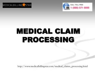 medical claim processing