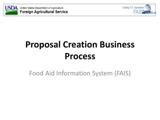 Proposal Creation Business Process