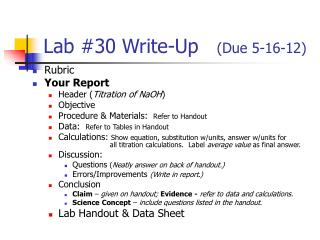 Lab #30 Write-Up    (Due 5-16-12)