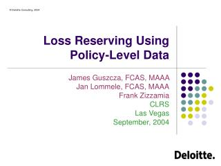 Loss Reserving Using Policy-Level Data