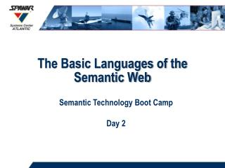 The Basic Languages of the Semantic Web