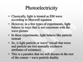 Photoelectricity