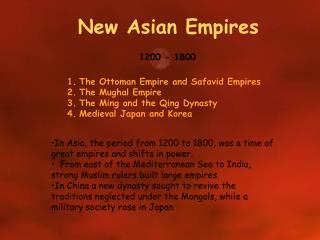 New Asian Empires