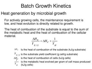 Batch Growth Kinetics