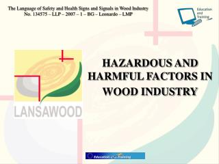 HAZARDOUS AND HARMFUL FACTORS IN  WOOD INDUSTRY