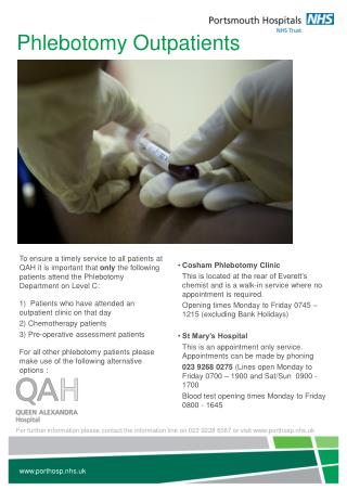 Phlebotomy Outpatients