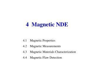4  Magnetic NDE