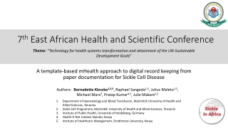 7 th East African Health and Scientific Conference