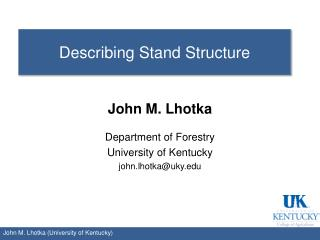 Describing Stand Structure