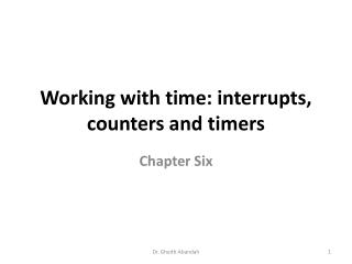 Working with time: interrupts, counters and timers