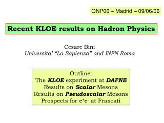 Recent KLOE results on Hadron Physics