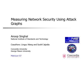 Measuring Network Security Using Attack Graphs