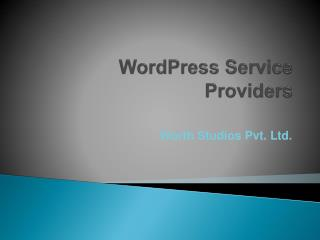 Wordpress Services Providers  | Wordpress Development Compan