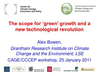 The scope for 'green' growth and a new technological revolution