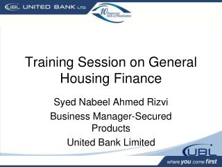 Training Session on General Housing Finance