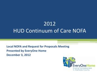 2012  HUD Continuum of Care NOFA