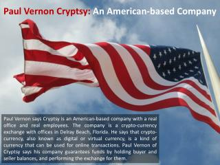 Paul Vernon Cryptsy - An American-based Company