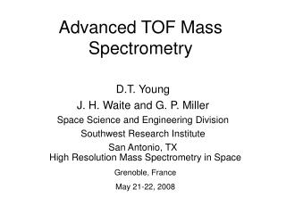 Advanced TOF Mass Spectrometry