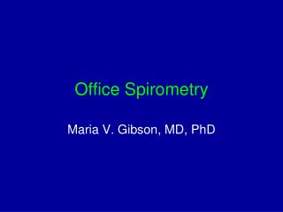 Office Spirometry