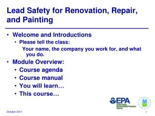 Lead Safety for Renovation, Repair, and Painting