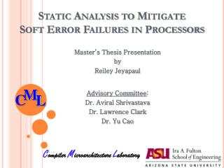 Static Analysis to Mitigate  Soft Error Failures in Processors