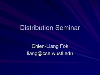 Distribution Seminar
