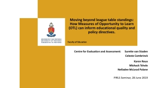 NATIONAL EDUCATION EVALUATION AND DEVELOPMENT UNIT