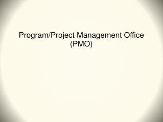 Program/Project Management Office (PMO)