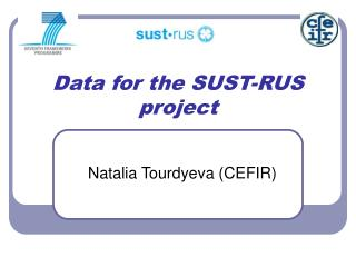 Data for the SUST-RUS project