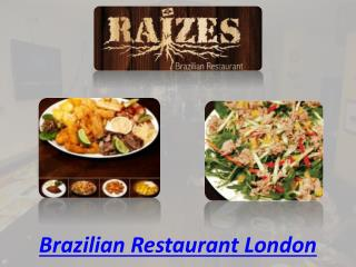 Brazilian restaurant London