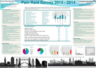 Pain Raid Survey  2013  - 2014