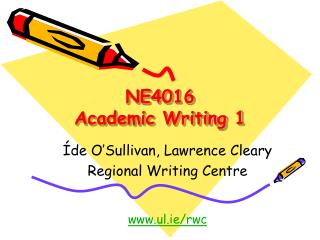 NE4016 Academic Writing 1