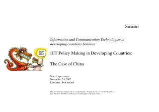 ICT Policy Making in Developing Countries: The Case of China