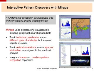 Interactive Pattern Discovery with Mirage