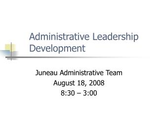 Administrative Leadership Development
