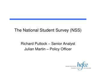 The National Student Survey (NSS)