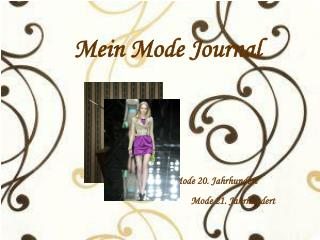 Mein Mode Journal