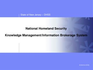 National Homeland Security   Knowledge Management