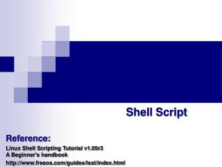 PPT - csh, tcsh, or C Shell PowerPoint Presentation - ID:3279622