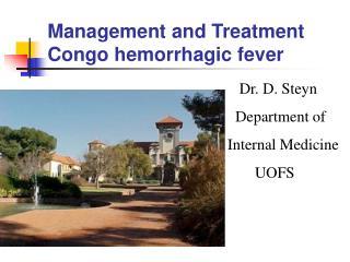Management and Treatment Congo hemorrhagic fever