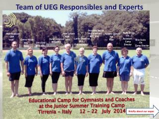 Team  of  UEG  Responsibles  and  Experts