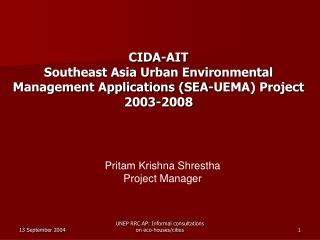 Pritam Krishna Shrestha Project Manager