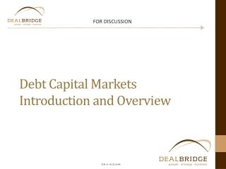 Debt  Capital  Markets Introduction and Overview