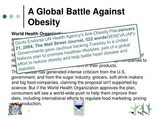 A Global Battle Against Obesity
