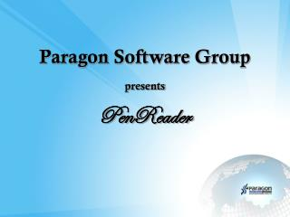 Paragon Software Group presents  PenReader